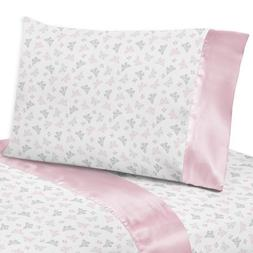 Sweet Jojo Designs 3-Piece Pink, Gray and White Butterfly Tw