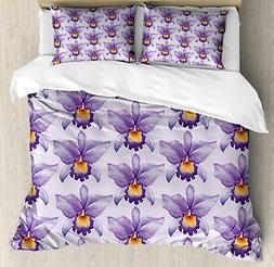 Purple Ambesonne Duvet Cover Set Twin Queen King Sizes with