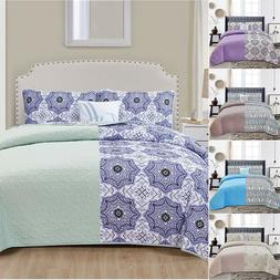 queen quilt bedding set printed pattern 4