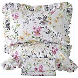 Queen's House Shabby Floral Pattern Bedding Duvet Cover Sets