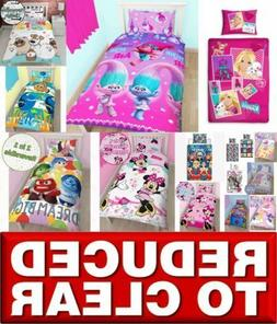 *REDUCED* Disney Character Girls Kids Bedding Single Double