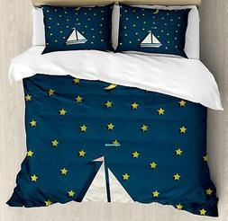 Sea Duvet Cover Set Twin Queen King Sizes with Pillow Shams