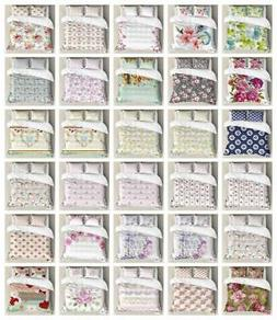 Shabby Chic Duvet Cover Set Twin Queen King Sizes with Pillo