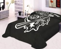 Soft Plush Mink Thick Blanket Sons of Anarchy Reaper Printed