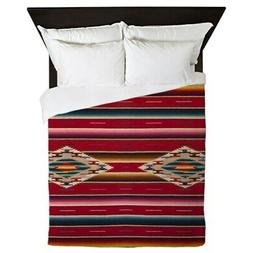 CafePress Southwest Red Serape Saltillo Queen Duvet