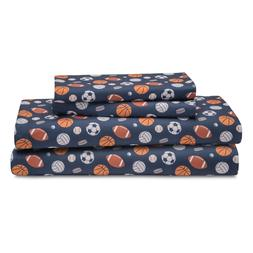 Sports Twin Full or Queen Sheet Set Microfiber Kids Boys Ath