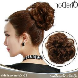 OneDor Synthetic Curly Elastic Hair Band Hair Bun Extension