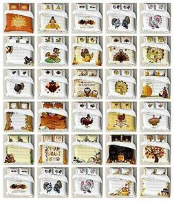 Thanksgiving Duvet Cover Set Twin Queen King Sizes with Pill