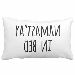 Emvency Throw Pillow Cover Funny Typography Quote Namastay i