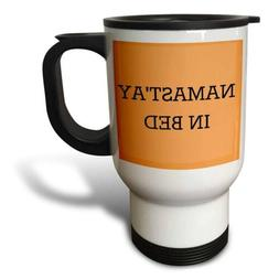 3dRose tm_213481_1 Namastay in Bed, Black Lettering on an Or