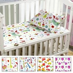 Mellanni 3-Piece Toddler Sheet Set for Boys/Girls - Fitted S