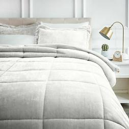 AmazonBasics Ultra-Soft Micromink Sherpa Comforter Bed Set -