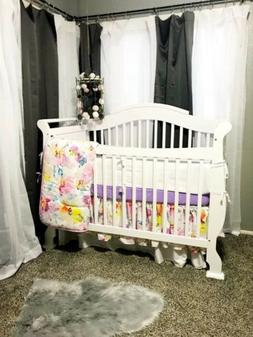 Carousel Designs Watercolor Floral Crib Bedding