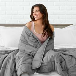 Bare Home Weighted Blanket - All-Natural 100% Cotton - Premi