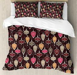 Winter Season Duvet Cover Set Twin Queen King Sizes with Pil