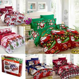 Xmas Bedding Set Duvet Quilt Cover Comforter Covers Bed Shee